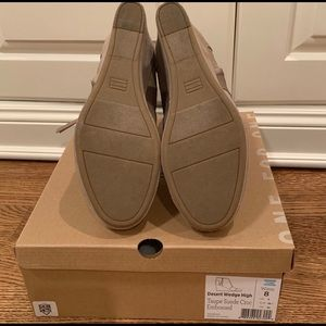 Toms Shoes - Toms NWOT Desert wedge Taupe suede leather final$